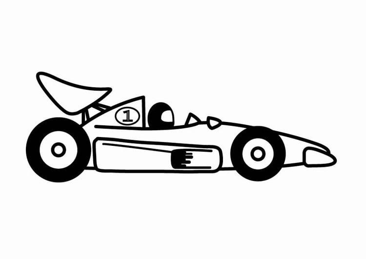 malvorlage f1 rennauto  kostenlose ausmalbilder zum