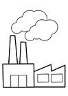 Malvorlage  Fabrik