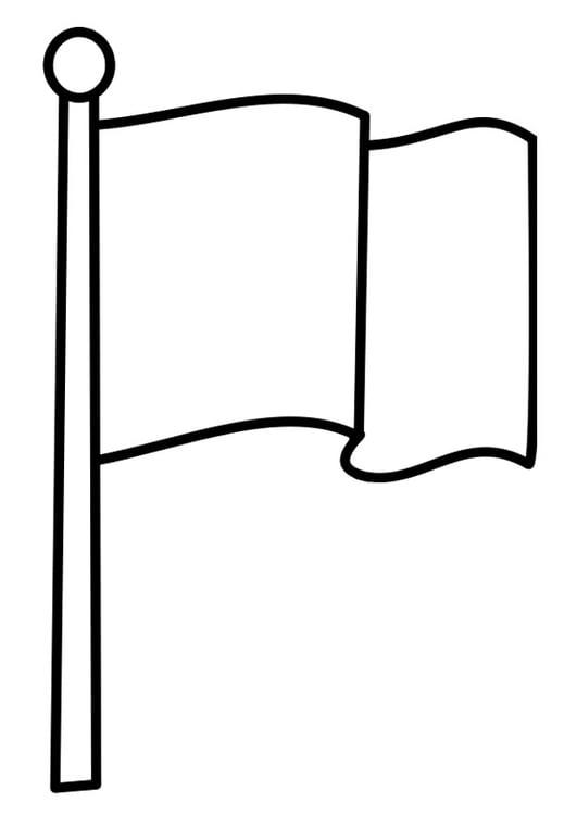 Malvorlage Fahne   Ausmalbild 22478.