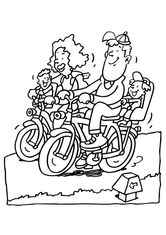malvorlage fahrrad fahren  kostenlose ausmalbilder zum