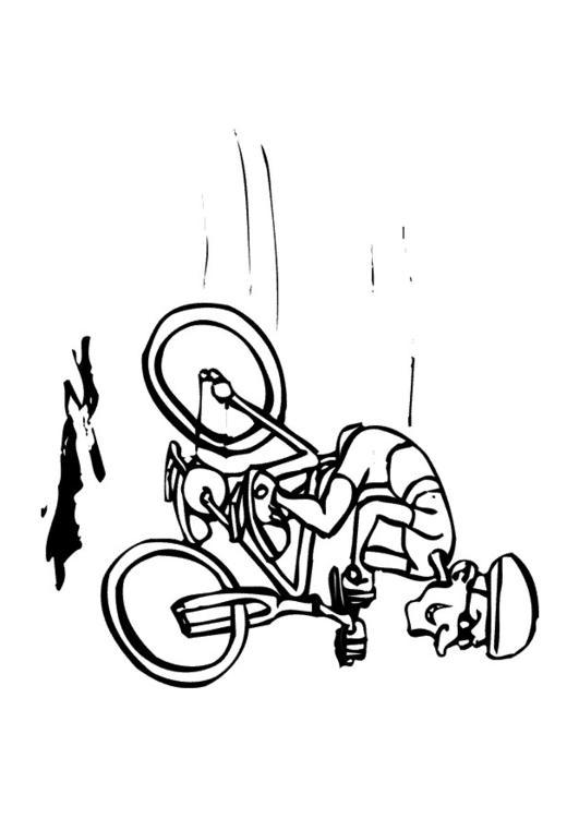 Malvorlage Fahrrad fahren   Ausmalbild 10140.