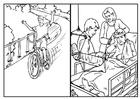 Malvorlage  Fahrrad fahren - Sicherheit