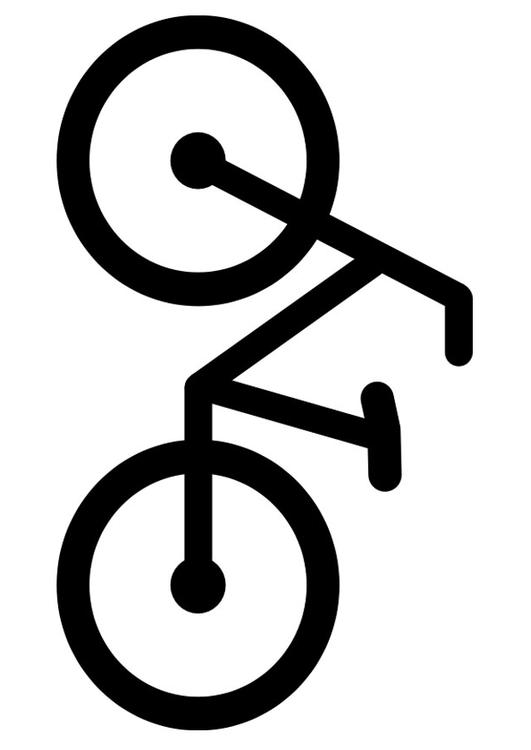 Malvorlage Fahrrad : Ausmalbild 27154.