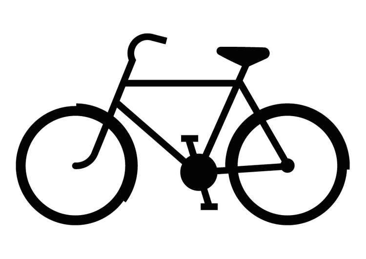 Malvorlage Fahrradsilhouette   Ausmalbild 9835.