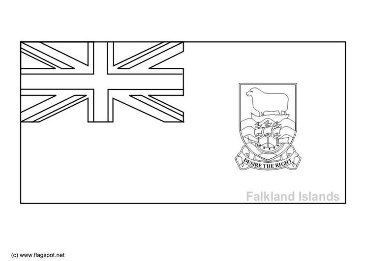 Malvorlage Falkland Inseln Ausmalbild 6352