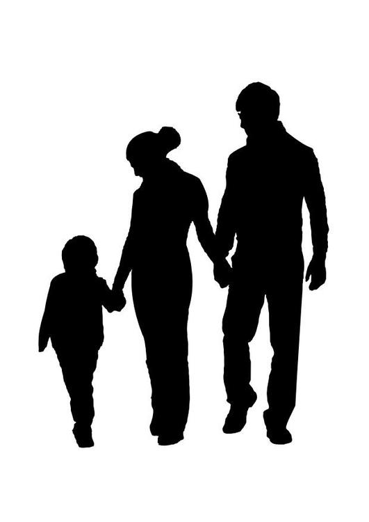 Malvorlage Familie | Ausmalbild 26164.