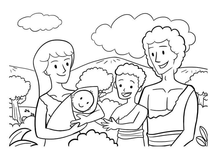Malvorlage Familie Ausmalbild 29821 Images