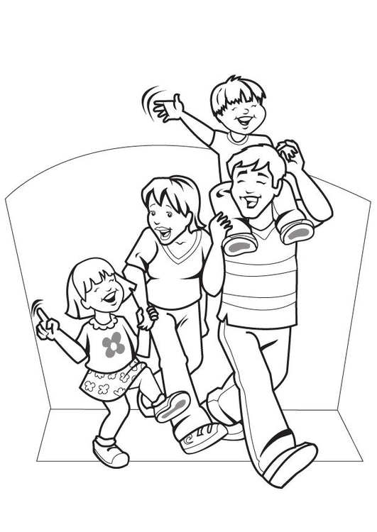 Malvorlage Familie Ausmalbild 7089 Images