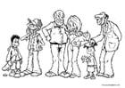 Malvorlage  Familiemitglieder