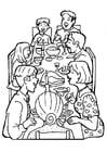 Malvorlage  Familienfest