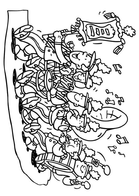 marching band coloring pages abstract - photo#12