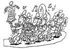 Malvorlage  Fanfare