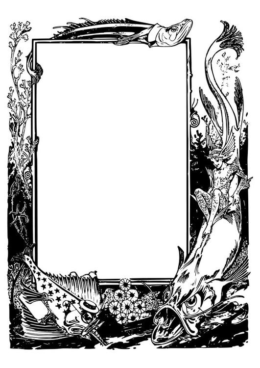 Fantasie Dieren Kleurplaten Malvorlage Fantasie Meerestiere Rahmen Ausmalbild 27418