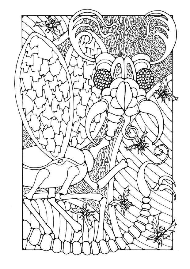 Volwassen Kleurplaten Love Malvorlage Fantasieinsekt Ausmalbild 25638