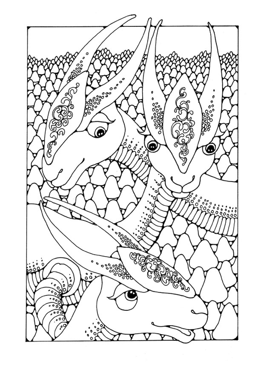Kleurplaat Dieren In Het Bos Malvorlage Fantasietiere Ausmalbild 25652 Images