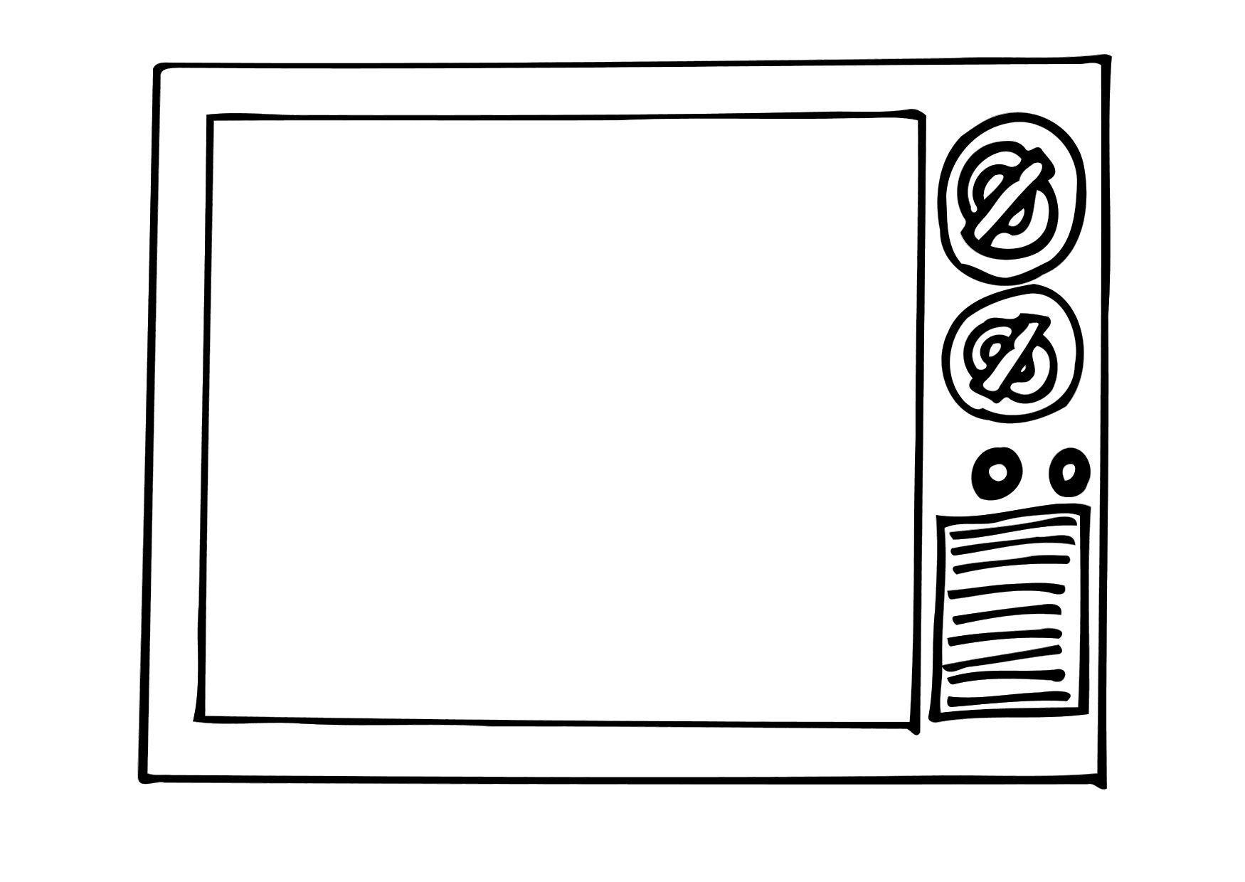 Malvorlage fernseher ausmalbild 12296 - Programa para pintar ...