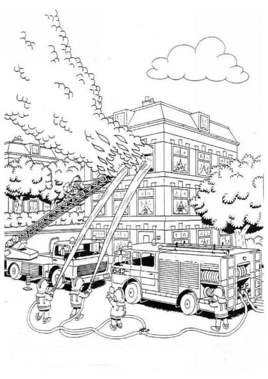 Malvorlage Feuer | Ausmalbild 12684.
