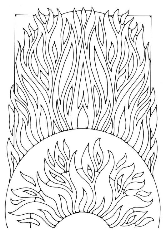 Malvorlage Feuer | Ausmalbild 21911.