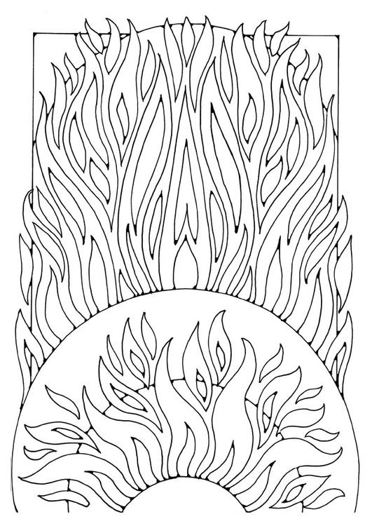 Malvorlage Feuer Ausmalbild 21911 Images