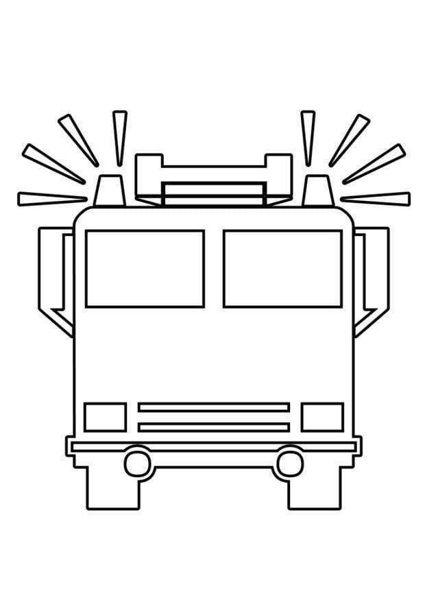 Malvorlage Feuerwehrauto Ausmalbild 22525