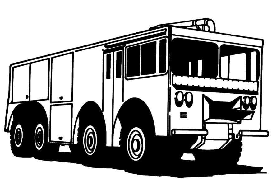 Malvorlage Feuerwehrauto Ausmalbild 8173