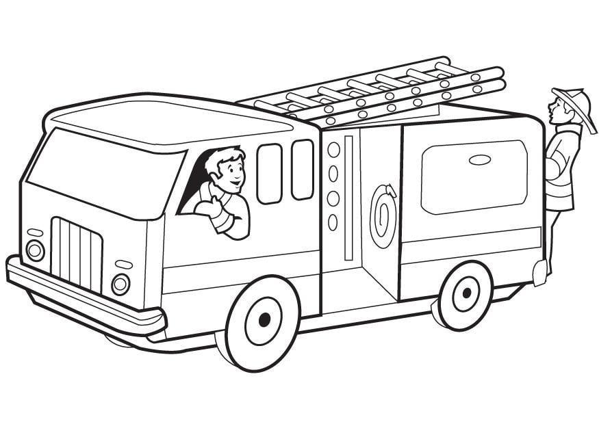 Malvorlage Feuerwehrauto Ausmalbild 8174