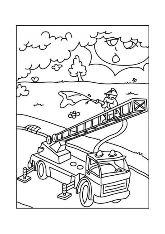 Malvorlage Feuerwehrauto Kostenlose Ausmalbilder Zum Ausdrucken Bild 12683