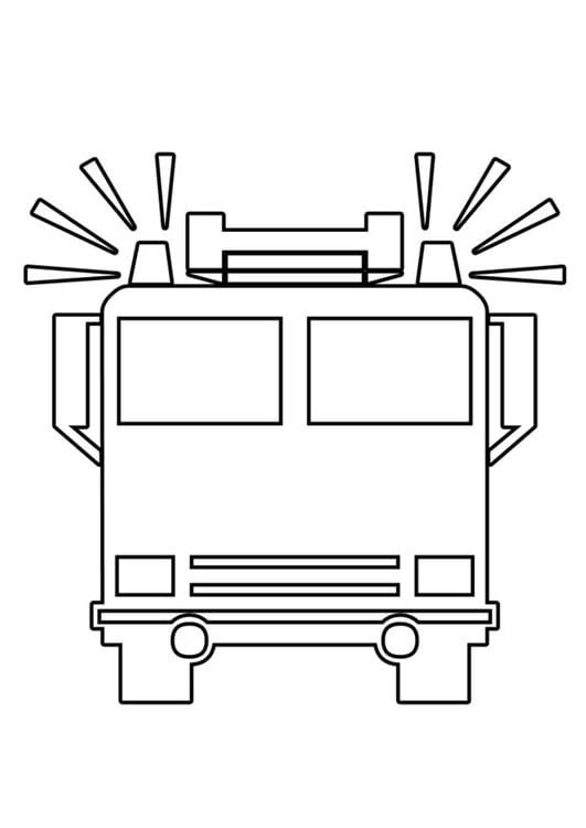Malvorlage Feuerwehrauto Ausmalbild 22560