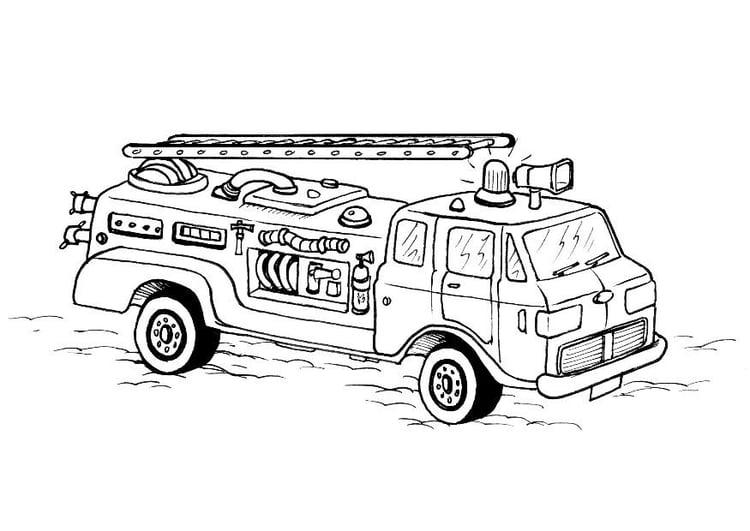 Ziemlich Feuerwehrauto Malvorlagen Zeitgenössisch - Framing ...