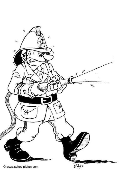 Malvorlage Feuerwehrmann Kostenlose Ausmalbilder Zum Ausdrucken