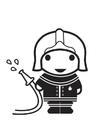 Malvorlage  Feuerwehrmann