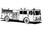 Malvorlage  Feuerwehrwagen