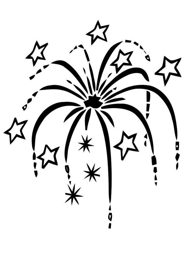Malvorlage Feuerwerk | Ausmalbild 22590.