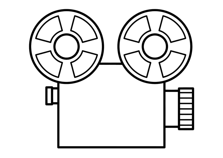 Malvorlage Film | Ausmalbild 11315.