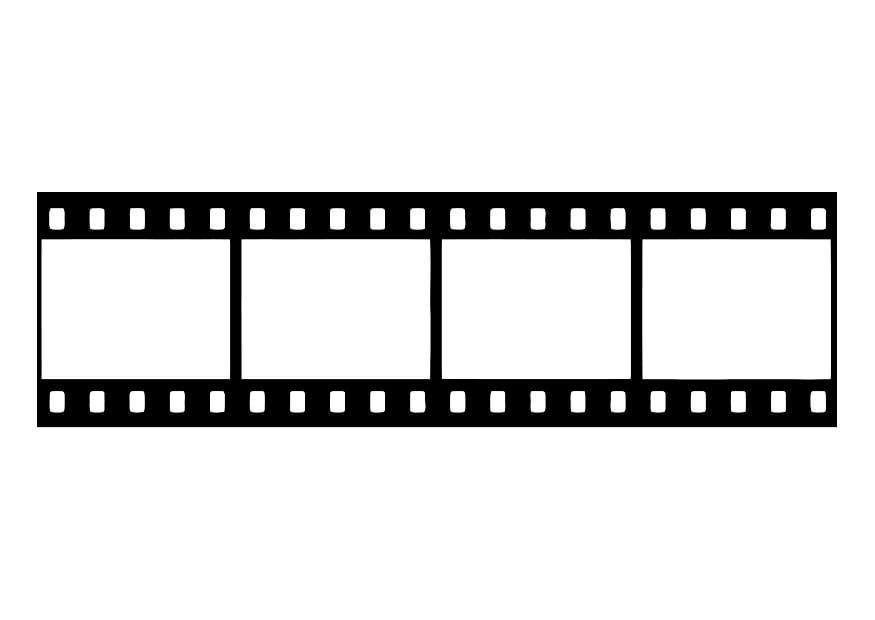malvorlage filmstreifen filmnegativ  ausmalbild 27437