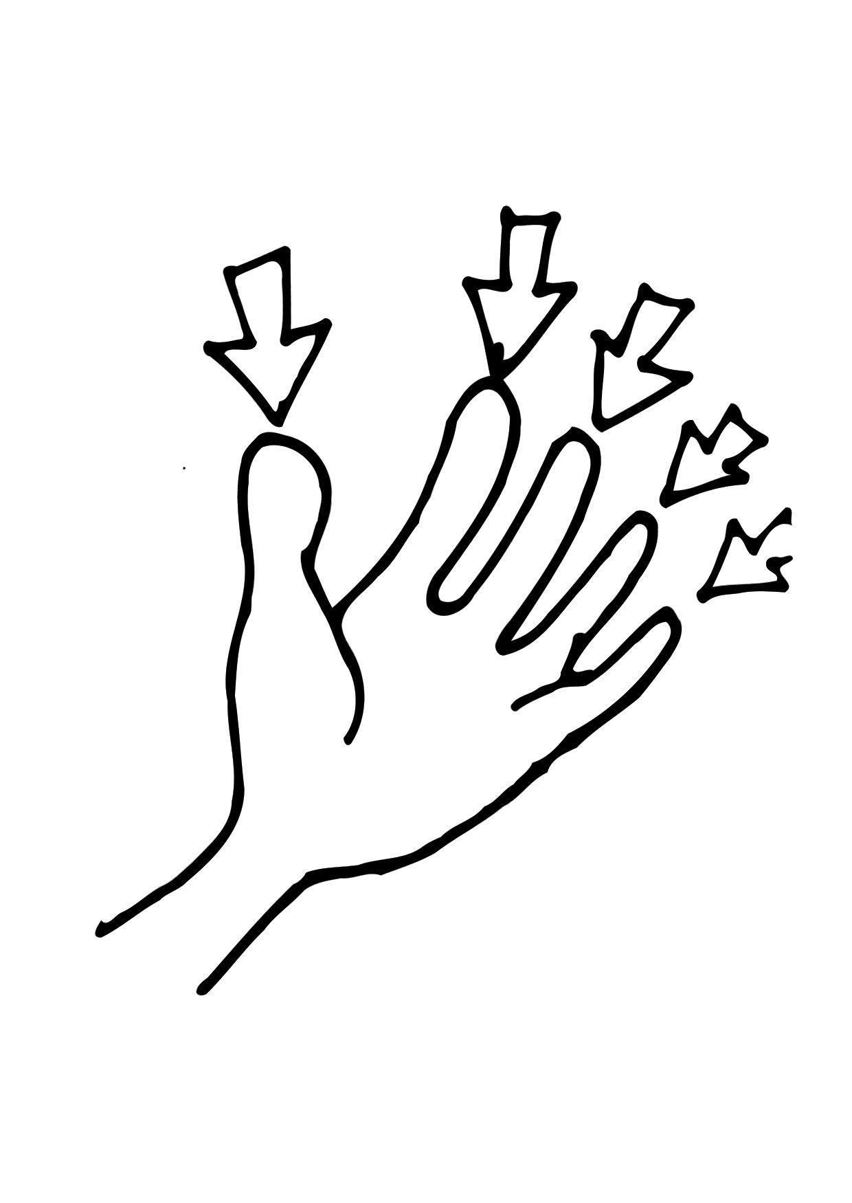 Malvorlage Finger - Kostenlose Ausmalbilder Zum Ausdrucken - Bild