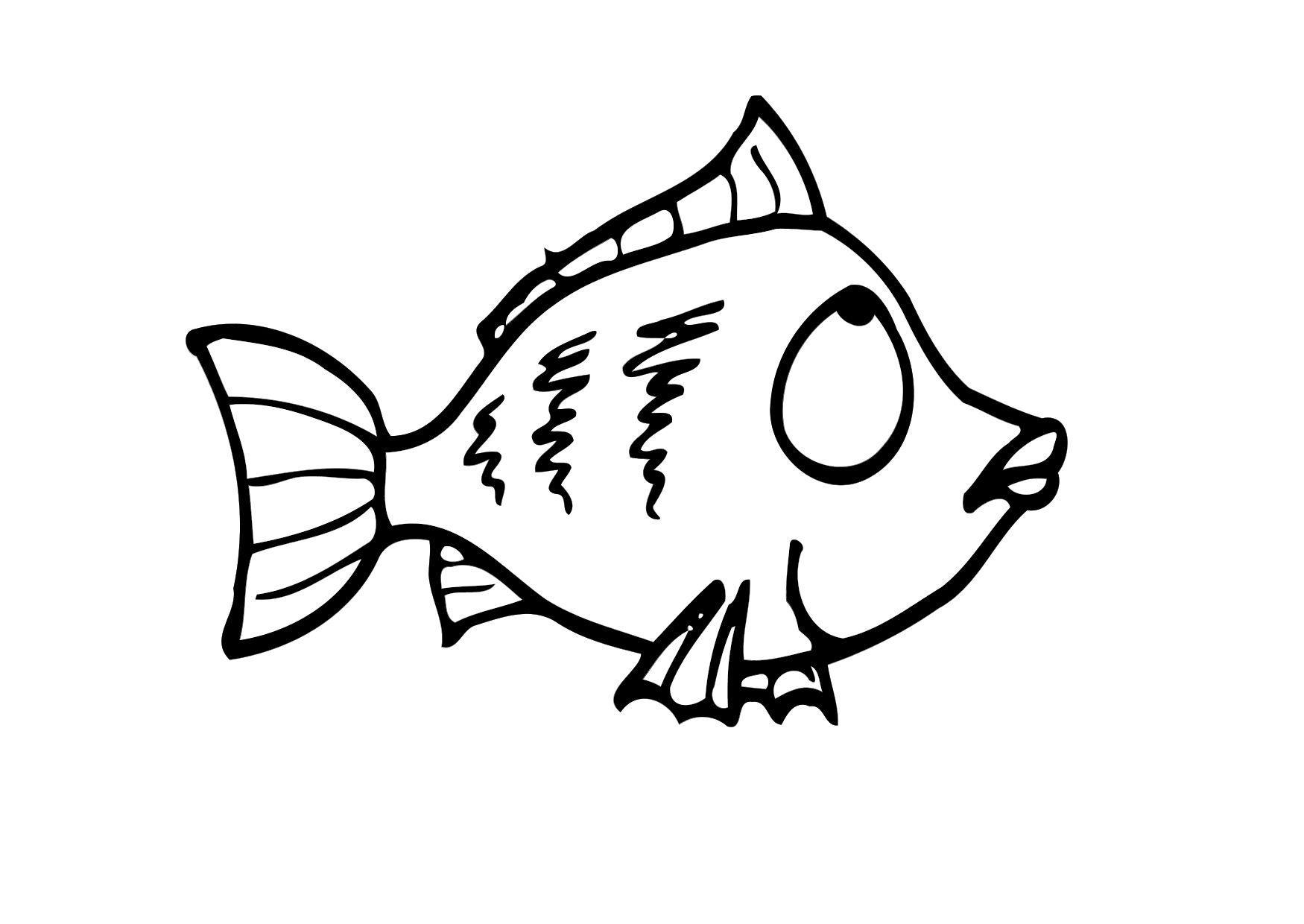 malvorlage fisch  ausmalbild 12293