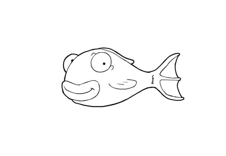 Malvorlage Fisch | Ausmalbild 13938.
