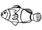 Malvorlage  Fisch - Goldfisch