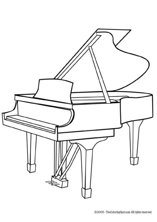 musical keyboard coloring pages - photo#26
