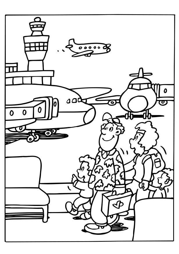 Malvorlage Flughafen Ausmalbild