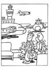 Malvorlage  Flughafen