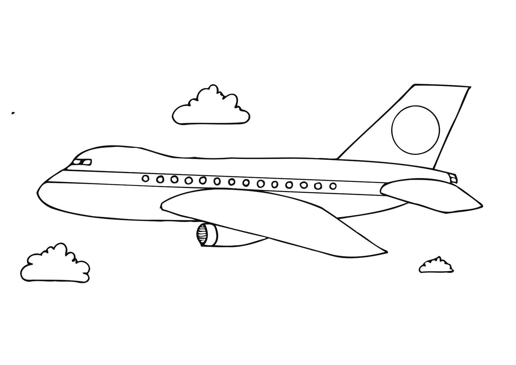 Malvorlage Flugzeug | Ausmalbild 12281.
