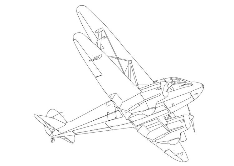 malvorlage flugzeug  ausmalbild 28709