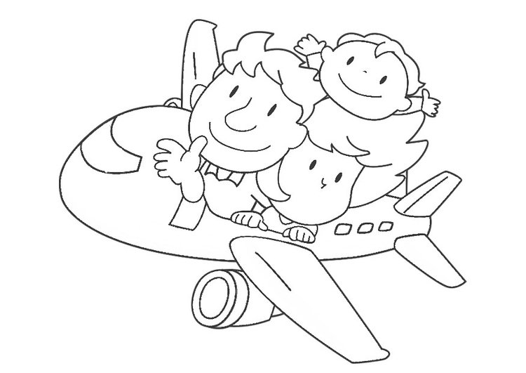 malvorlage flugzeug  kostenlose ausmalbilder zum ausdrucken