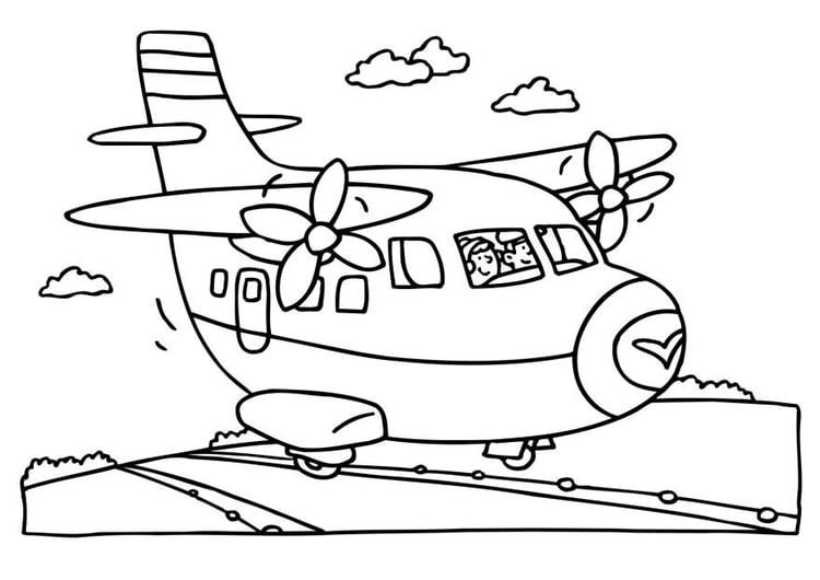 Flugzeug Malvorlage Kostenlos Flugzeuge Ausmalbilder