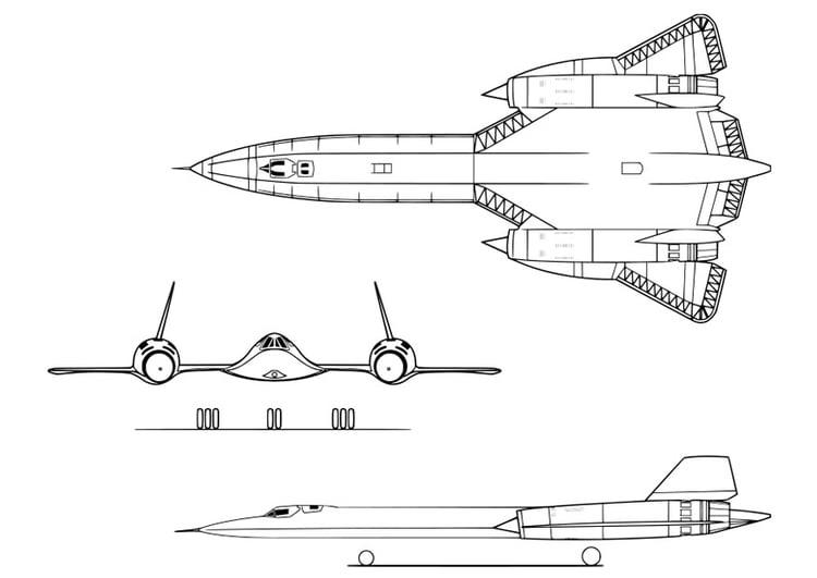 malvorlage flugzeug  lockheed sr71a  ausmalbild 27952