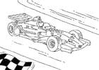 Malvorlage  Formel 1 Rennauto