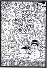Malvorlage  Fröhliche Weihnachten