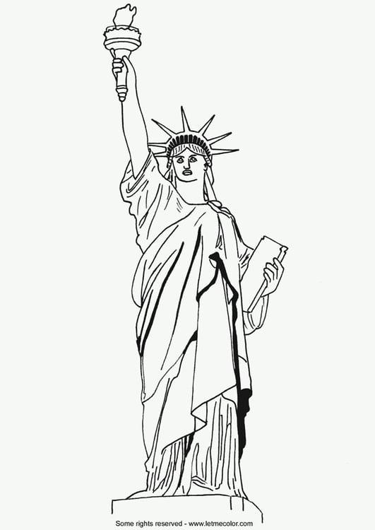 Malvorlage Freiheitsstatue | Ausmalbild 15529.